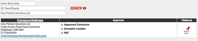 NICEIC Electrician Contractor Results for One Perfect Solutions Ltd